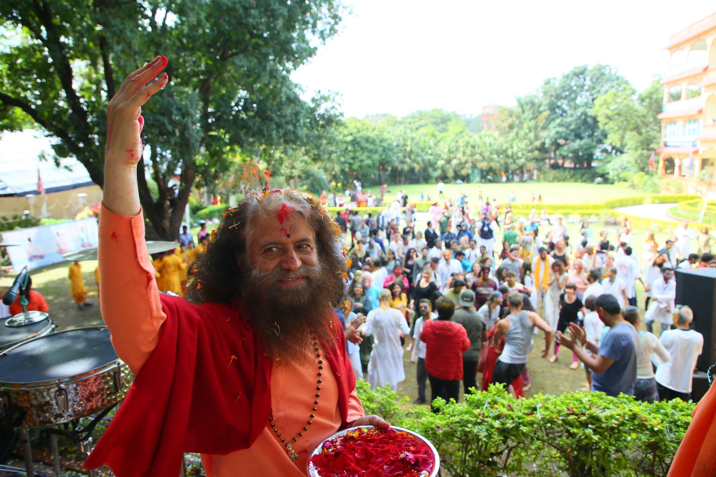 Pujya Swamiji Holi